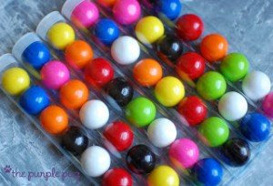 gumball party favor tubes
