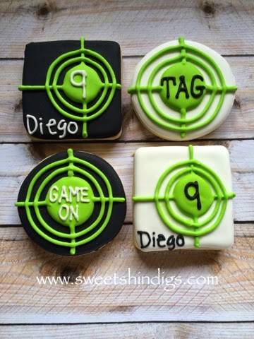 laser tag party favor cookies