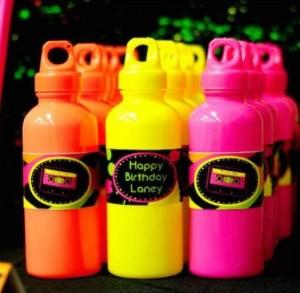 Neon Water Bottles