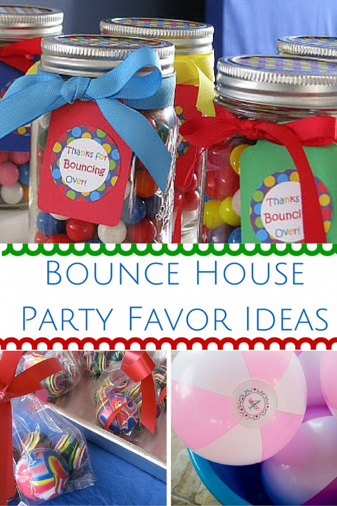 Bounce House Party Favor Ideas