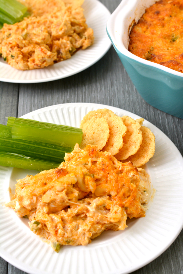 Keto Buffalo Chicken Dip - EASY Low Carb Ranch & Shredded Chicken Buffalo Dip Recipe - BEST Snack or Parties Dip Idea