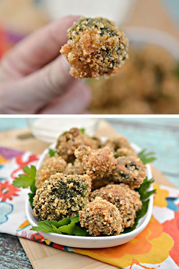 Keto Broccoli Bites | Low Carb Garlic Parmesan Broccoli Bites Recipe | Appetizers - Snacks - Party Food - Side Dish - Ketogenic Diet Idea