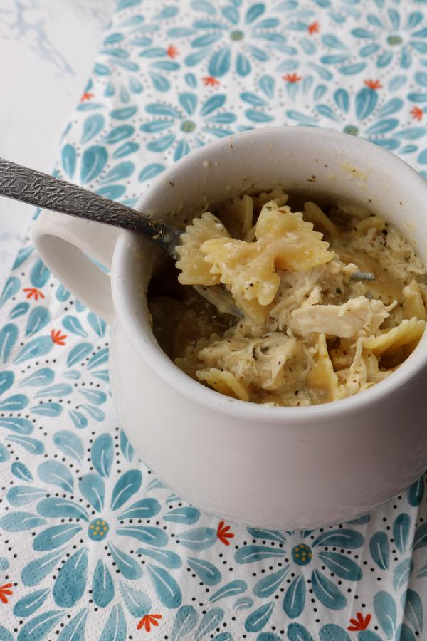 Microwave Pasta! Best Bowtie Pasta Chicken Carbonara - Microwave Recipes In A Mug For One – Easy | Simple | Tasty Food